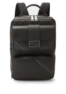 Fendi Roma textured-leather backpack