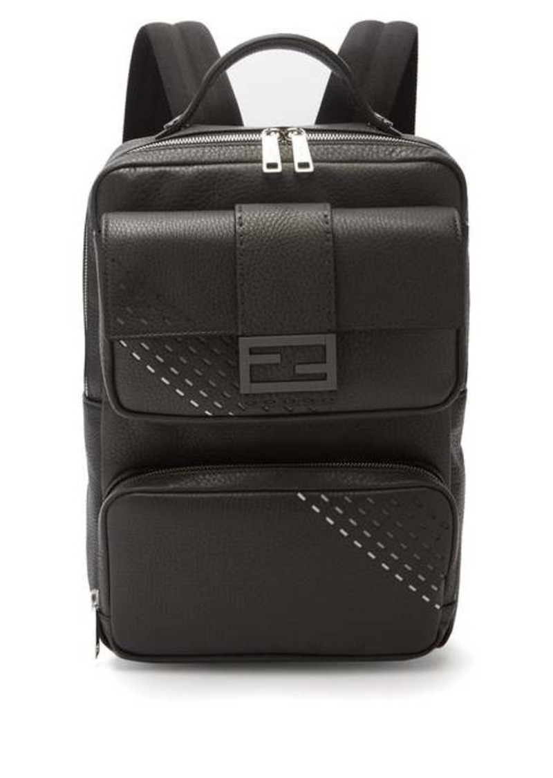 Fendi Roma textured-leather backpack