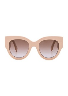Fendi Round Color Block Sunglasses