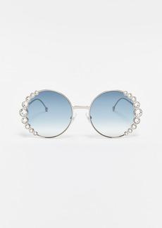 Fendi Round Crystal Sunglasses