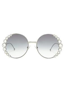 Fendi Round embellished sunglasses