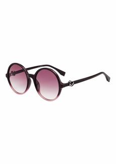 Fendi Round Gradient Propionate Sunglasses