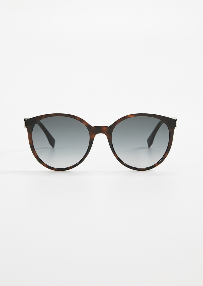 Fendi Round Gradient Sunglasses