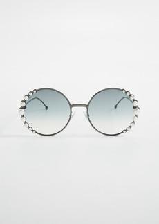 Fendi Round Pearl Frame Sunglasses