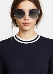 1e92d11abc7 Fendi Round Slight Cat Eye Sunglasses Fendi Round Slight Cat Eye Sunglasses  ...
