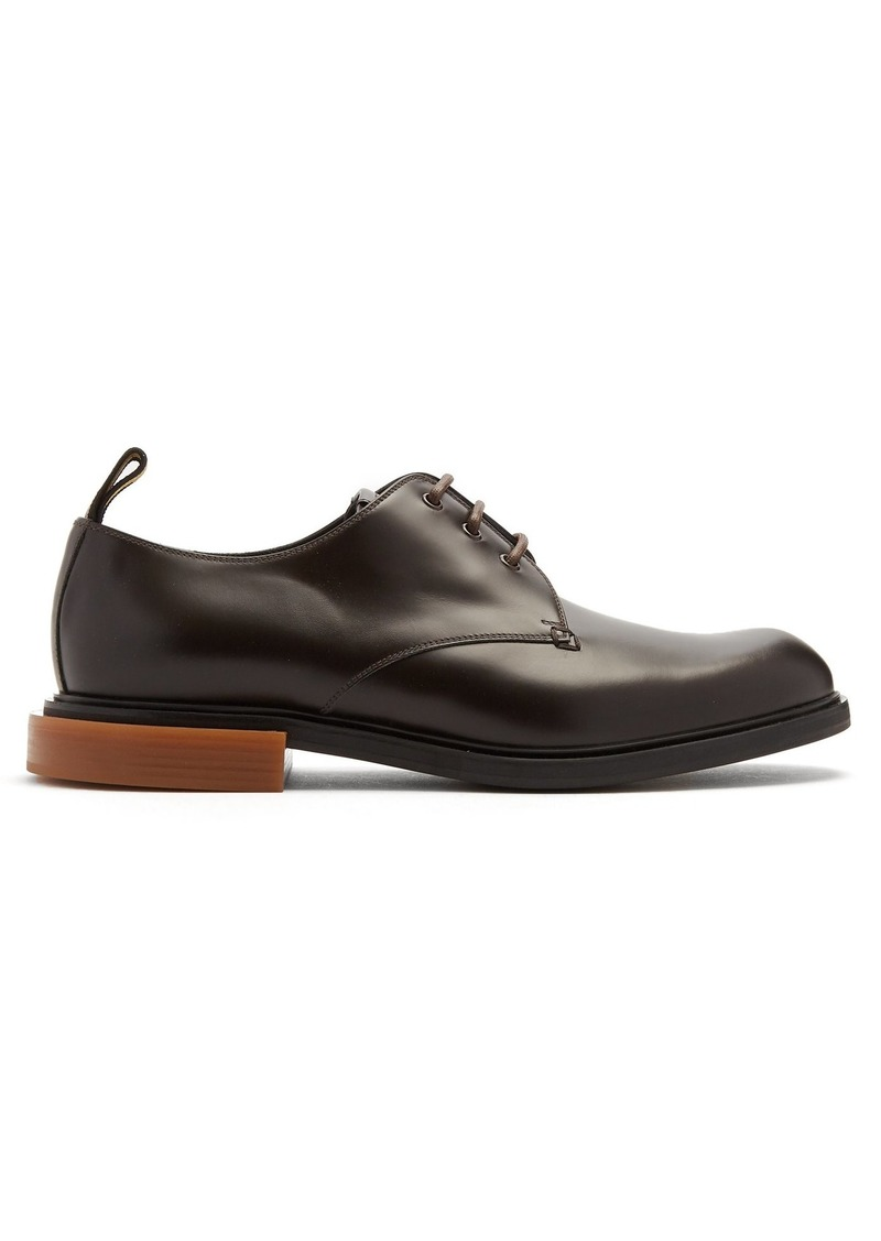 Fendi Round-toe leather derby shoes