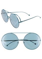 Fendi Run Away 63mm Round Sunglasses