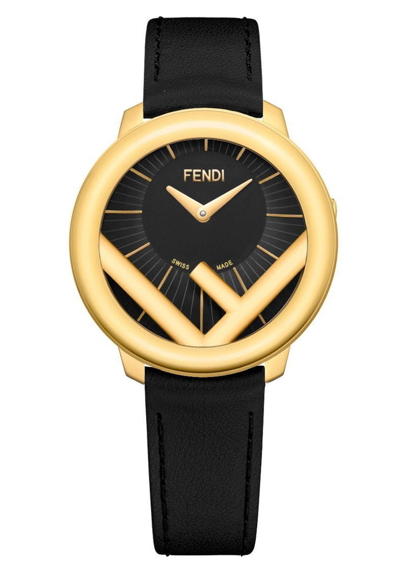 62321d15d04a Fendi Fendi Run Away Leather Strap Watch