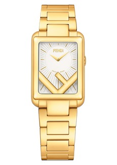 Fendi Run Away Rectangle Bracelet Watch, 22.5mm x 32mm