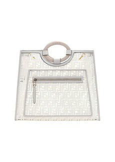 Fendi Runaway Large FF PVC Shopper Tote Bag