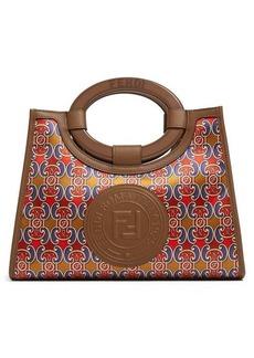Fendi Runaway mini satin and leather bag