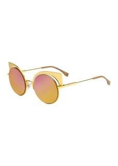 Fendi Runway Mirrored Cutout Sunglasses