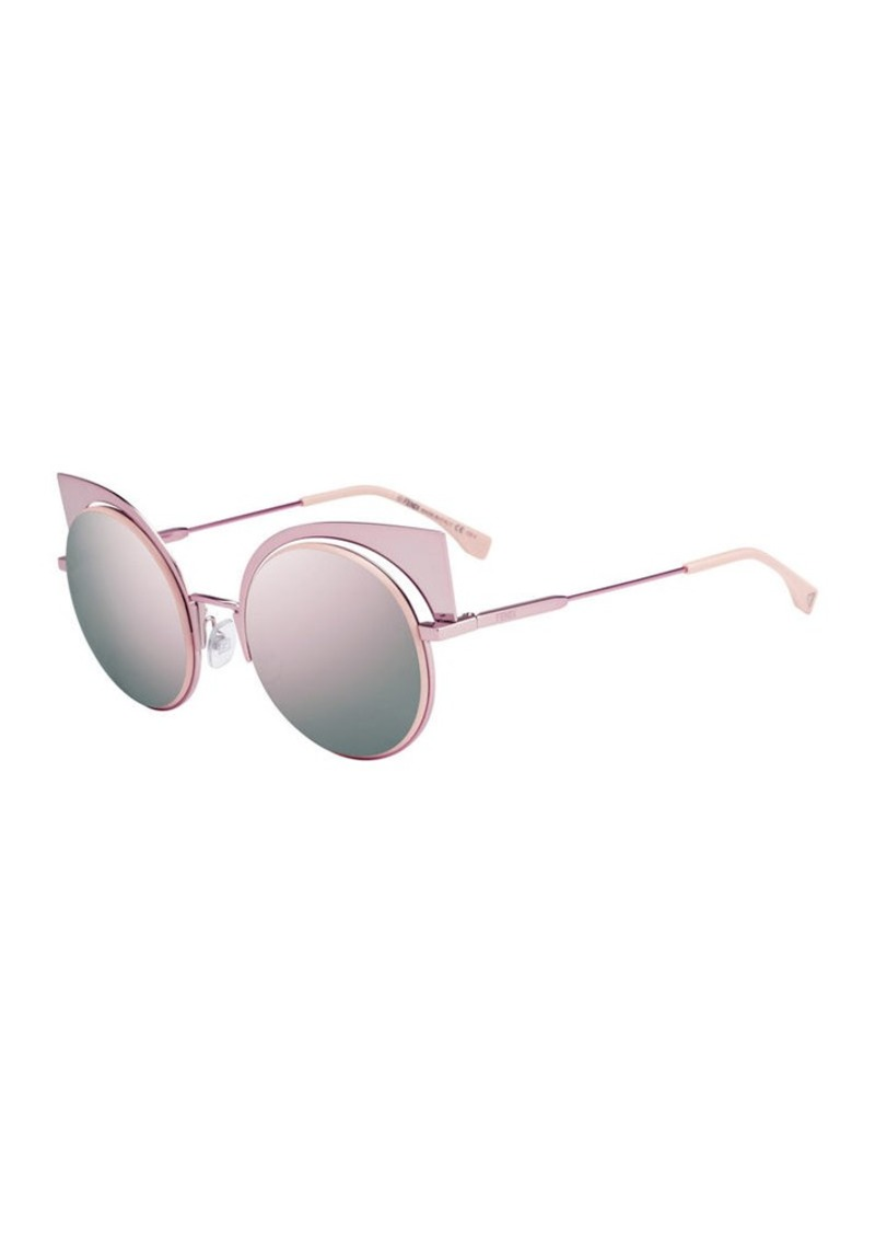 c3e6d41f40 Fendi Fendi Runway Mirrored Cutout Sunglasses