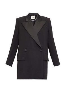 Fendi Satin-lapel double-breasted cady jacket