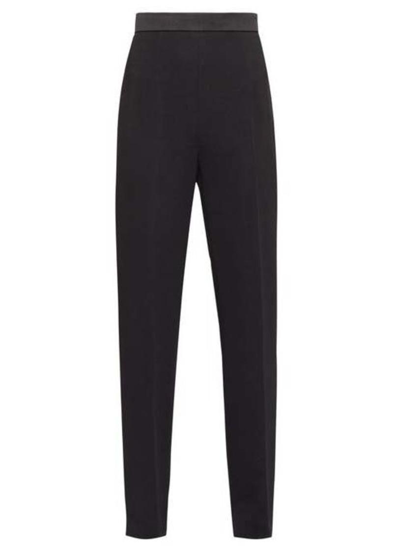Fendi Satin-trimmed side-tie crepe tuxedo trousers