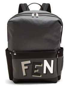 Fendi Shadow-logo nylon backpack