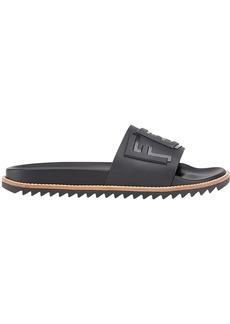 Fendi logo-embossed slide sandals
