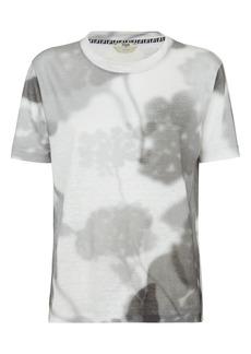 Fendi Shady Flowers Linen Jersey T-Shirt