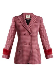 Fendi Shearling-trimmed wool jacket