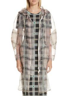 Fendi Sheer Plaid Organza Jacket