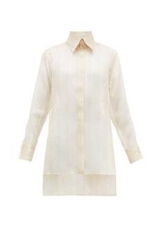 Fendi Sheer silk-organza shirt