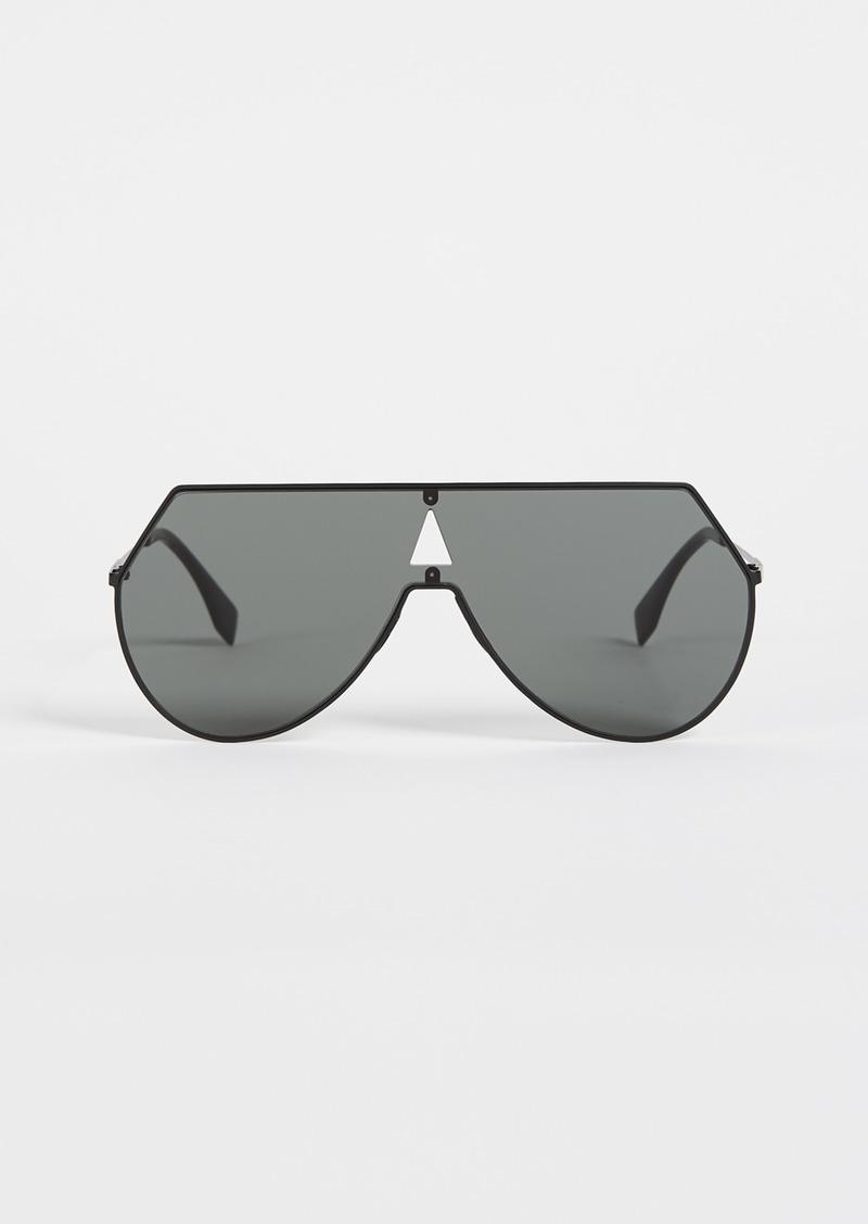 63887b4f45b SALE! Fendi Fendi Shield Aviator Sunglasses