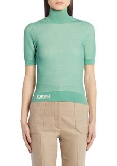 Fendi Short Sleeve Mesh Sweater