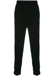 Fendi side appliqué fitted trousers - Black