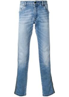 Fendi side panel jeans - Blue