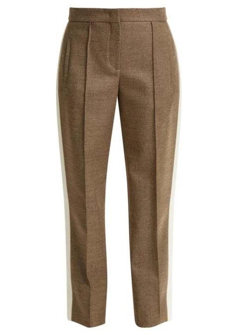 Fendi Side-stripe wool-blend twill trousers