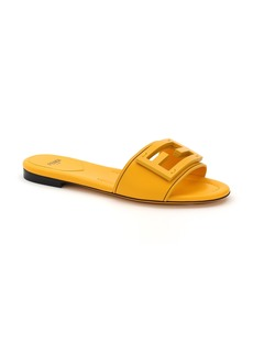 Fendi Signature Logo Slide Sandal (Women)