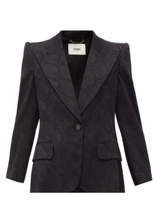 Fendi Singled-breasted floral-jacquard silk blazer
