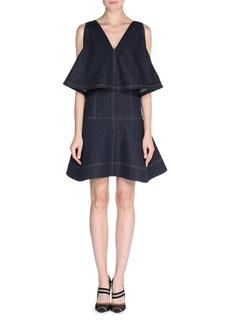 Fendi Sleeveless Denim Dress w/Cape