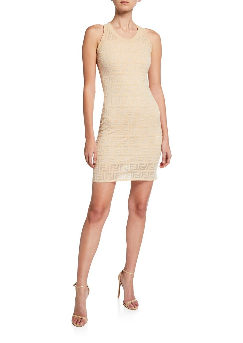 Fendi Sleeveless Logo Knit Dress