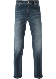Fendi slim Bag Bug jeans - Blue