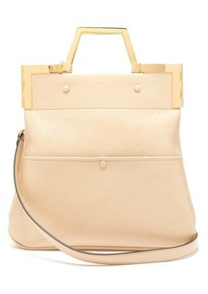 Fendi Small crackled-leather tote bag