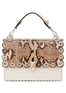 Fendi Small Kan I Genuine Python & Calfskin Shoulder Bag