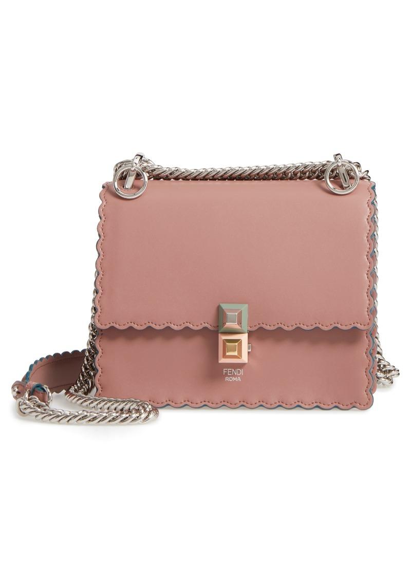 0b385491f87a9 Fendi Fendi Small Kan I Scallop Leather Shoulder Bag
