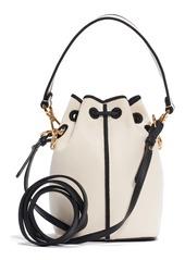 Fendi Small Mon Tresor Logo Canvas Bucket Bag