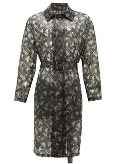 Fendi Spiral-print organza raincoat