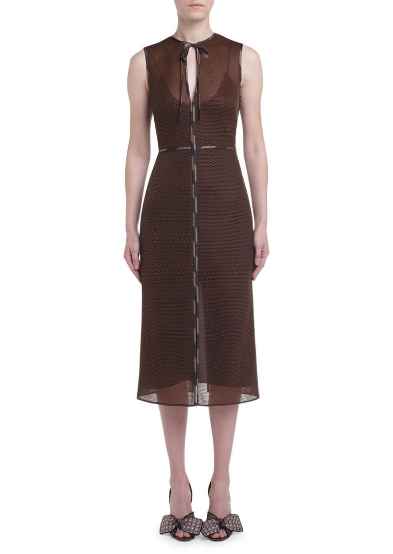Fendi Sponge-Mesh Sleeveless Dress