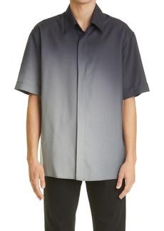 Fendi Spotlight Graduated Print Wool Button-Up Shirt