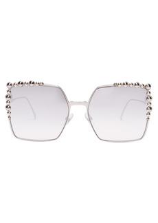 Fendi Square-frame embellished sunglasses