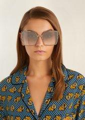 757def84fa6fd Fendi Square-frame embellished sunglasses Fendi Square-frame embellished  sunglasses ...