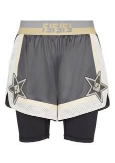 Fendi Star Mesh Shorts