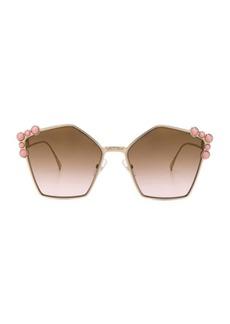 Fendi Step Arm Geometric Sunglasses