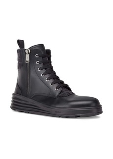 Fendi Stivaletto Vitello Fascia FF Motif Combat Boot (Men)