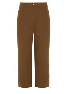 Fendi Straight-leg cropped trousers