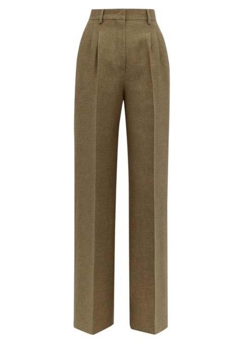 Fendi Straight-leg side-stripe wool & silk trousers