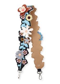 Fendi Strap You Inlaid Floral Shoulder Strap for Handbag